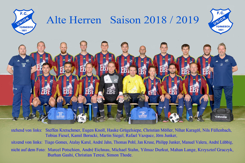 Alte Herren FCU Mannschaftssfoto